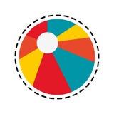 Beach ball icon image. Illustration design Royalty Free Stock Photo