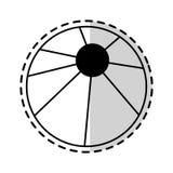 Beach ball icon image. Illustration design Stock Image