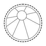 Beach ball icon image. Vector illustration design Royalty Free Stock Photos