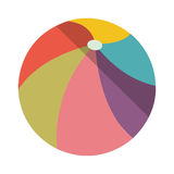 Beach ball icon. Multicolored beach ball icon over white background. vector illustration Royalty Free Stock Photo