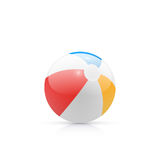 Beach ball illustration. Beach ball, vector, isolated on white Stock Photos