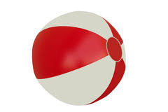 Beach ball - isolated Royalty Free Stock Photos