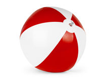 Beach ball isolated on pure white background Royalty Free Stock Photos