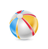 Beach ball isolated on white Royalty Free Stock Photos
