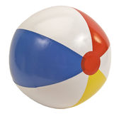 Beach Ball Isolated On White Royalty Free Stock Photo