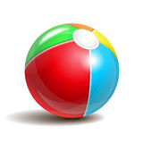 Beach ball. Isolated on a white background. Symbol of summer fun at the pool or seaside. Vector illustration Stock Photos