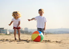 Beach ball joy Royalty Free Stock Photography