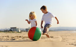 Beach ball joy Stock Image