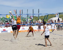 Beach ball match stock image