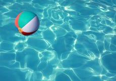 Beach Ball in Pool stock photo
