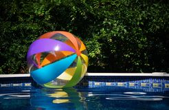Beach Ball in Pool Royalty Free Stock Photography