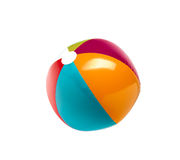 Beach ball. On pure white background royalty free stock image