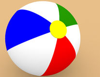Beach Ball in the Sand. 3d Render of a Beach Ball in the Sand Royalty Free Stock Photo