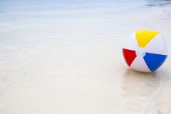 beach ball in the sea Stock Image