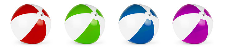 Beach ball set. Isolated on white background Royalty Free Stock Photos