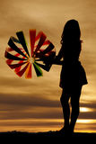Beach ball silhouette look away Royalty Free Stock Photo