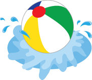 Beach Ball Splash Royalty Free Stock Images