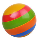 Beach ball with stripes Royalty Free Stock Image
