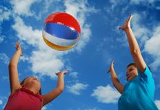 Beach ball summertime fun Royalty Free Stock Photography