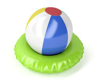 Beach ball and swim ring Stock Image