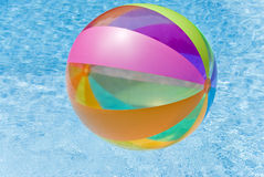 Beach Ball in Swimming Pool Royalty Free Stock Photography