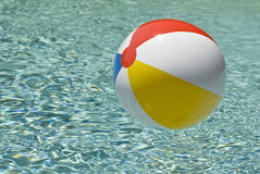 Beach Ball In Swimming Pool Stock Image