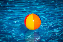 Beach ball in swimming pool Royalty Free Stock Images