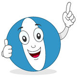 Beach Ball Thumbs Up Character Stock Photo