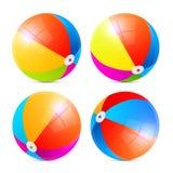 Beach ball variopinti di vettore messi Fotografie Stock