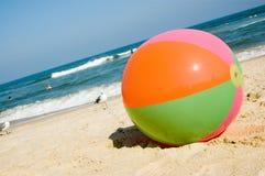 Beach ball on Virginia Beach Stock Photo