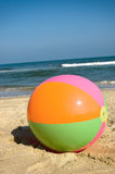 Beach ball at Virginia Beach Royalty Free Stock Photography