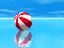 Beach Ball Water Royalty Free Stock Photo