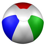 Beach Ball,  on white background. 3D render Royalty Free Stock Images