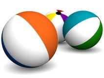 Beach balls Stock Image
