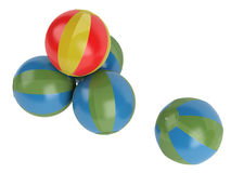 Beach balls. Rendered 3d isolated beach balls on white background Stock Image