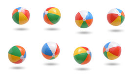 Beach balls. Collection isolated on white background royalty free stock images