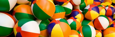 Beach Balls Panorama stock images