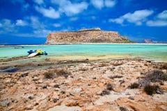 Beach at Balos lagoon Royalty Free Stock Images