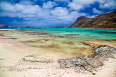 Beach at Balos lagoon in Crete Royalty Free Stock Photo