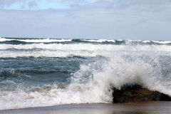 Beach on the Baltic Sea. In bad weather conditions Stock Image