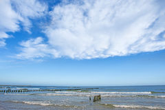 Beach of the Baltic Sea with groins Royalty Free Stock Image