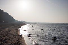 The beach on the Baltic Sea in Miedzyzdroje, Poland Stock Photo
