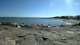 Beach of the Baltic Sea stock footage