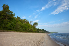 Beach at Baltic Sea in Poland Royalty Free Stock Images