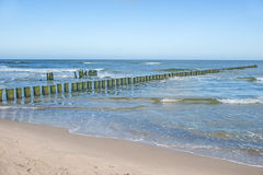 Beach of Baltic Sea, Poland Stock Photo