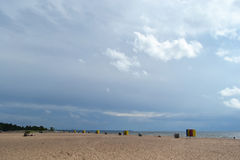 The beach on the Baltic Sea. Royalty Free Stock Photography
