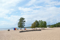 The beach on the Baltic Sea. Stock Image