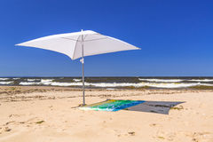Beach of Baltic Sea in Sobieszewo Royalty Free Stock Images