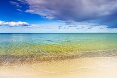 Beach at Baltic sea in summer. Time, Sweden Stock Photography