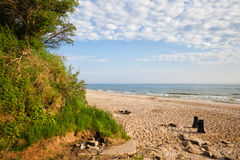 Beach at Baltic Sea in Wladyslawowo Royalty Free Stock Image